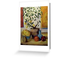 Pear and Apple Greeting Card