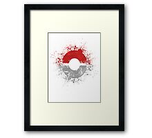 Poke'ball Framed Print