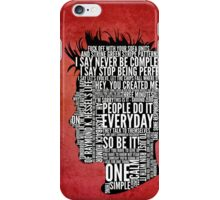 Typography Tyler Durden Uncensored iPhone Case/Skin
