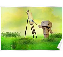 Danbo the artist Poster