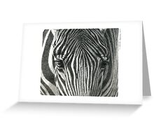 Zebra G2011-017 by schukina Greeting Card