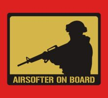 Airsofter on board Kids Clothes