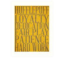 Hufflepuff (Harry Potter) Art Print