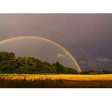 Double Rainbow 16 September 2012 Manfield, North England Photographic Print