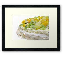 Fruit Pavlova Dessert Framed Print