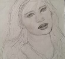 Jennifer Lawrence Sketch by chatnoir4713