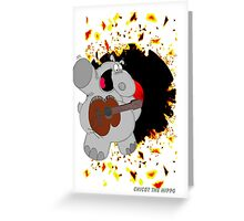Hippo Exploding Record Greeting Card