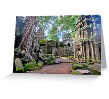 Ta Phrom - The lost temple. Greeting Card
