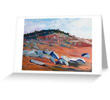 Rocky Countryside (2) around Sutton Grange, Vic Australia Greeting Card