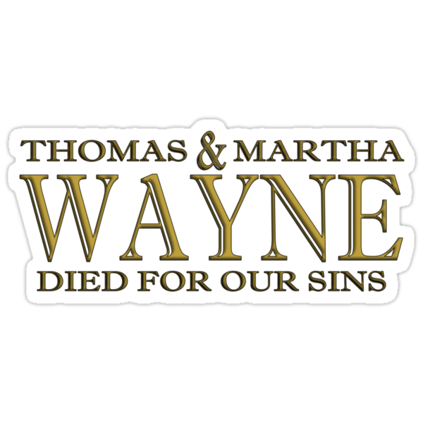 Thomas and Martha died for our sins by Ant101