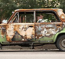 burned-out car by mrivserg