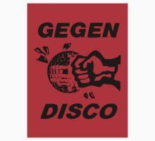 Gegen Disco (black + red) by Bela-Manson
