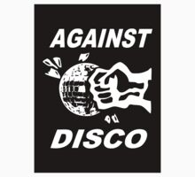 Against Disco (white + black) Sticker by Bela-Manson