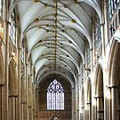 Inside York Minster by John (Mike)  Dobson