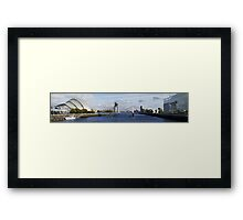 Squinty in the middle ! Framed Print