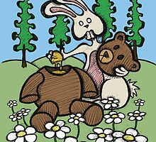 Teddy Bear and Bunny - Sweet Golden Blood by Brett Gilbert