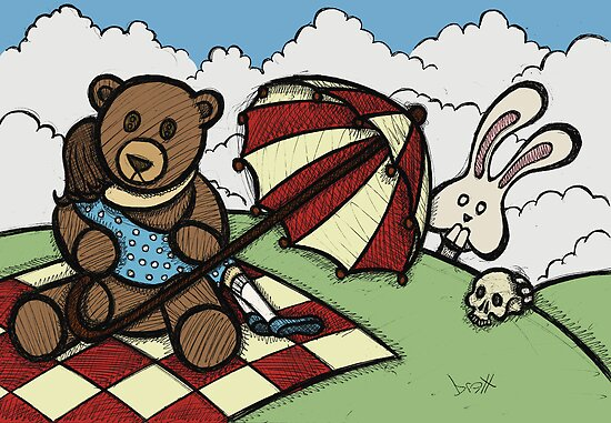Teddy Bear and Bunny - The Girl That Came Between Them by Brett Gilbert