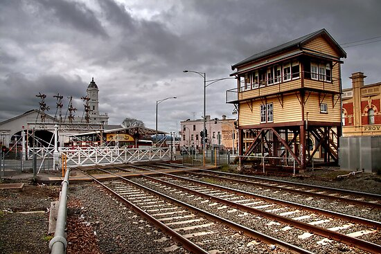 Ballarat Railway Station by Christine Smith