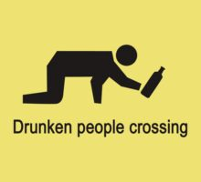 Drunken People Crossing Traffic Sign by iloveisaan