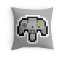 Pixel Nintendo 64 Controller Throw Pillow