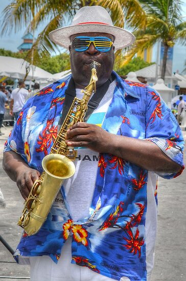 Street Musician in Nassau, The Bahamas by Jeremy Lavender Photography