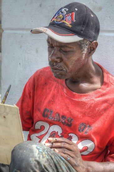 Street Painter Artist in Nassau, The Bahamas by 242Digital