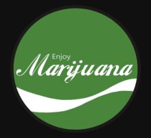 Enjoy Marijuana - Green - Round by HighDesign