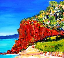 """Red Bluff"" Mornington Beach by Belinda ""BillyLee"" NYE (Printmaker)"