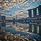 Sun Rising at Marina Bay by RickyMoorePhoto