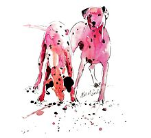 Pink Dalmations by Neil McBride