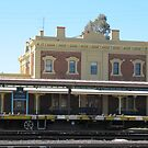 'Junee' Railway Station. Architecture, country town, N.S.W.  by Rita Blom