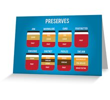 Preserves Greeting Card