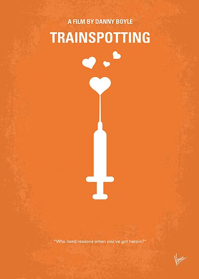 No152 My TRAINSPOTTING minimal movie poster by Chungkong
