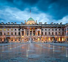 Somerset House Fountains by JzaPhotography