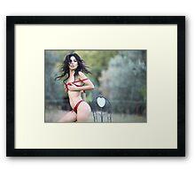 latin lingerie beauty Framed Print
