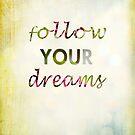 Follow Your Dreams by sandra arduini