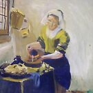 Reproduction of &quot;The Milkmaid&quot; 45 Minute Study by Debbie Douglass