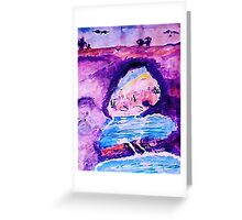 From Greece with love, watercolor Greeting Card