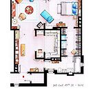 Carrie Bradshaw&#x27;s Apartment Floorplan v.2 by Iaki Aliste Lizarralde