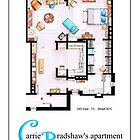 Carrie Bradshaw&#x27;s Apartment as a POSTER by Iaki Aliste Lizarralde