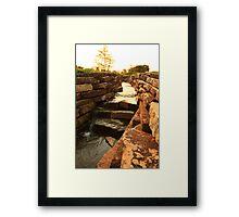 A Sunny Canal Framed Print