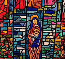 Nativity Mosaic - the Virgin Mary and Jesus by Bellarina74