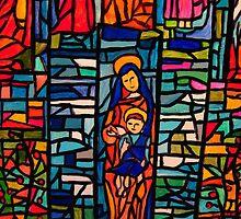 Nativity Mosaic - the Virgin Mary and Jesus by Bellarina74
