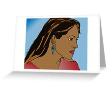Side Profile 1 Greeting Card