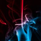 Blue and Red Smoke by Handy Andy Pandy