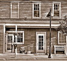 Windows and Doors of The Tavern-B&W sepia by henuly1