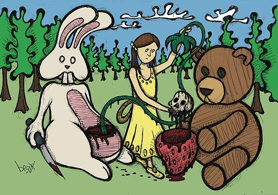 Teddy Bear and Bunny - Hidden Treasures by Brett Gilbert