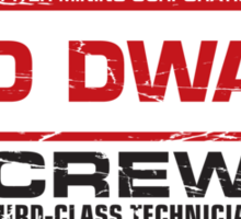 Red Dwarf Third-Class Technician Sticker
