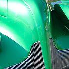 Classic Cars: Green Hood by richard  webb