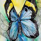 Butterfly blue by Slaveika Aladjova